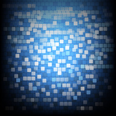 Blue shape abstract background