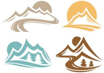Mountain Landscape Symbols