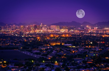 Papiers peints Prune Phoenix Arizona Skyline
