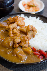 Fried pork curry ,Traditional Japanese food