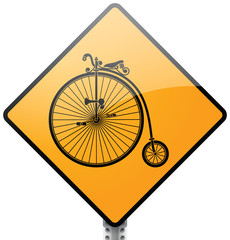 Old Bicycle Sign