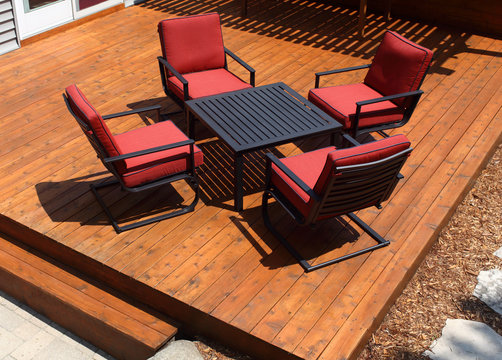 Backyard Deck and Chairs