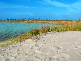 Fototapete - Horn Island Lagoon Mississippi