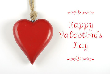 Happy Valentines Day heart with greeting