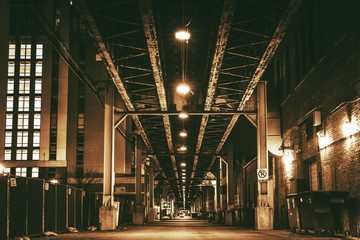 Fotobehang Chicago Chicago City Train Bridge