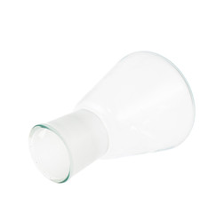 Empty Erlenmeyer glass flask isolated