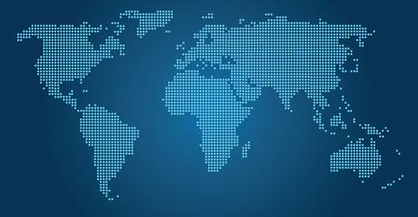 World map dots blue EPS 10