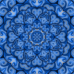 Blue success kaleidoscope