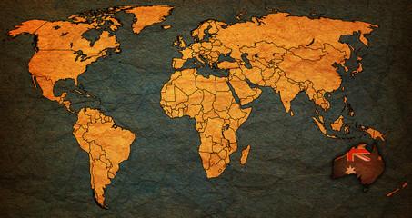 australia territory on world map
