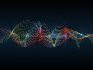 Illustration Abstract futuristic wave-digital  technology