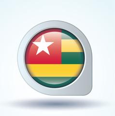 Flag set of Togo, vector illustration