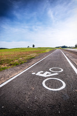 In de dag Route 66 Dedicated bicycle lanes at parks