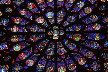 Paris, Notre Dame Cathedral. South transept rose window