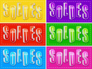 étiquettes couleur soldes
