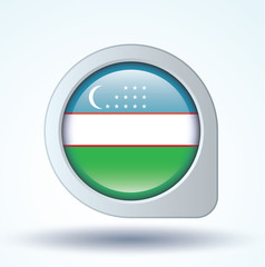 Flag set of Uzbekistan, vector illustration