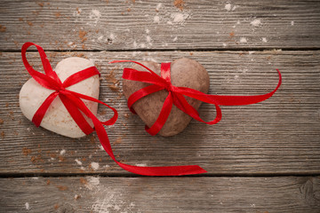cookies heart on old wooden background