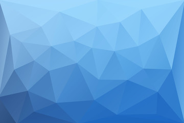 Abstract vector background of blue triangles