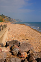 Charmouth beach and coast Dorset England UK