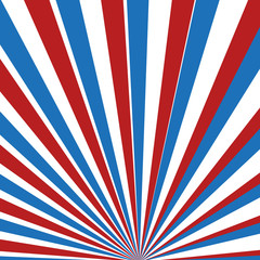 Red, blue and white vector rays