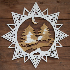 Weihnachtlicher Holzstern