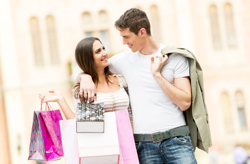 Loving Couple In The Shopping