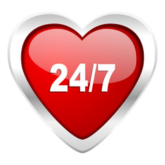 24/7 valentine icon