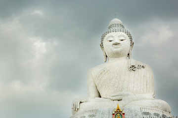Big Buddha monument on island of Phuket in Thailand.
