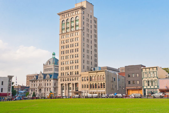 City downtown of Lexington, Kentucky, USA