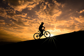 crazy biker hello sunrise