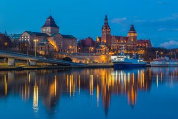 Szczecin | Wały Chrobrego | by night