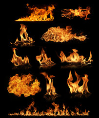 Printed roller blinds Fire / Flame Fire collection
