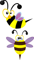 ridiculous cheerful bees