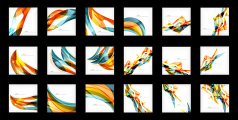 Large set of abstract backgrounds Wall mural
