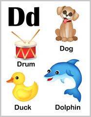 Alphabet letter D pictures