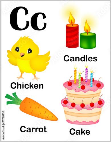 alphabet letter c pictures