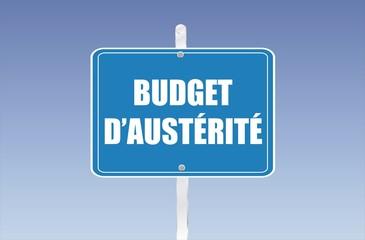 panneau budget d'austérité