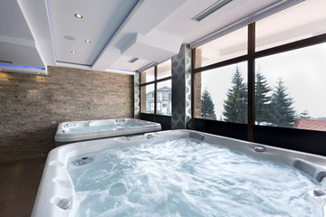 Jacuzzi baths in hotel spa center