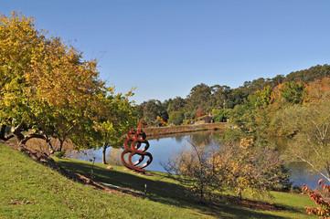 Autumn landscape. Beautiful autumn at the park