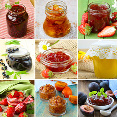 collage of different kinds of jam