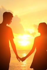 Romantic lovers in Maldives