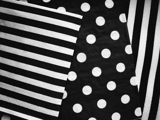 Jumbo Polka Dot, black and white