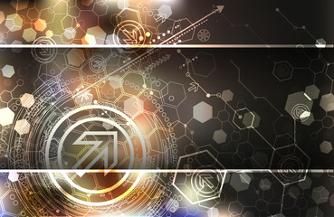 Abstract background, technology theme illustration