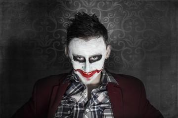 Creepy joker face