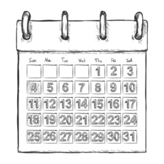 Vector Sketch Loose-leaf Calendar