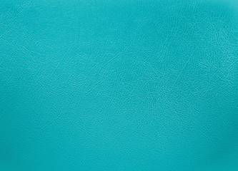 Turquoise colored leather texture background