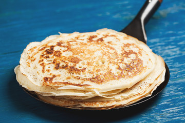 Staple of yeast pancakes, traditional for Russian pancake week