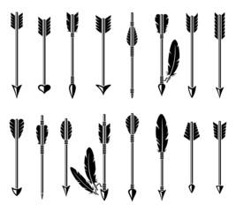 Bow arrow set. Vector
