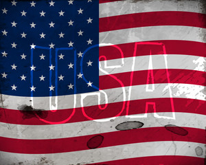 USA retro background with grunge effect for vintage design