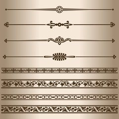 Design elements - dividing lines and ornaments.