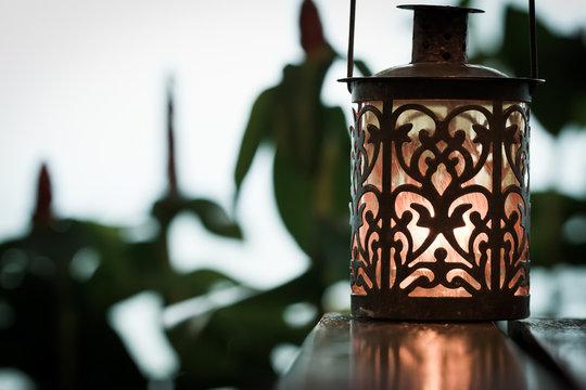 retro candle lantern